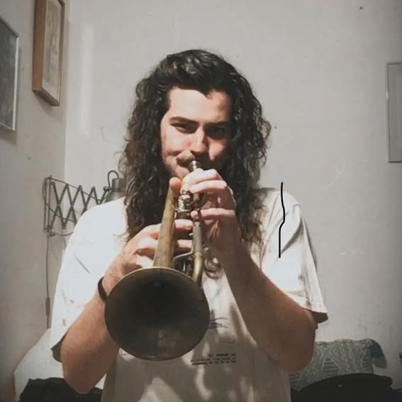 Pablo Martín amb la trompeta